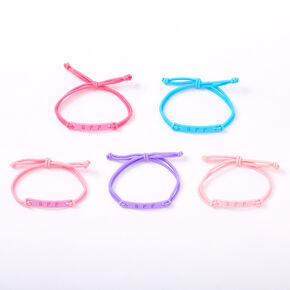 Pastel Matte Adjustable Friendship Bracelets - 5 Pack,