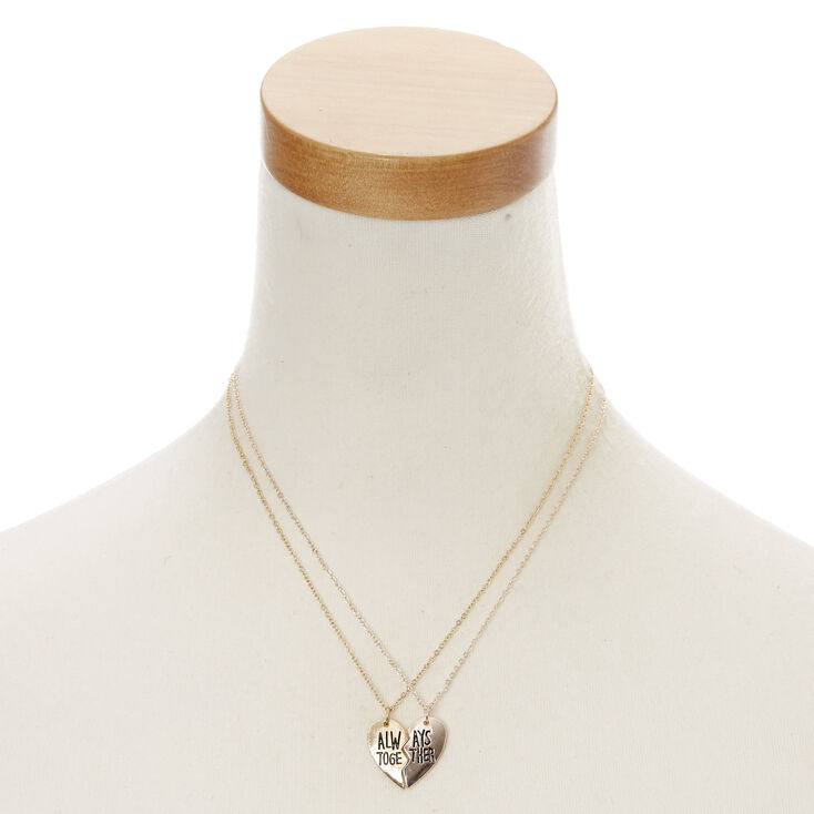 Best Friends Gold Always Together Necklaces - 2 Pack,