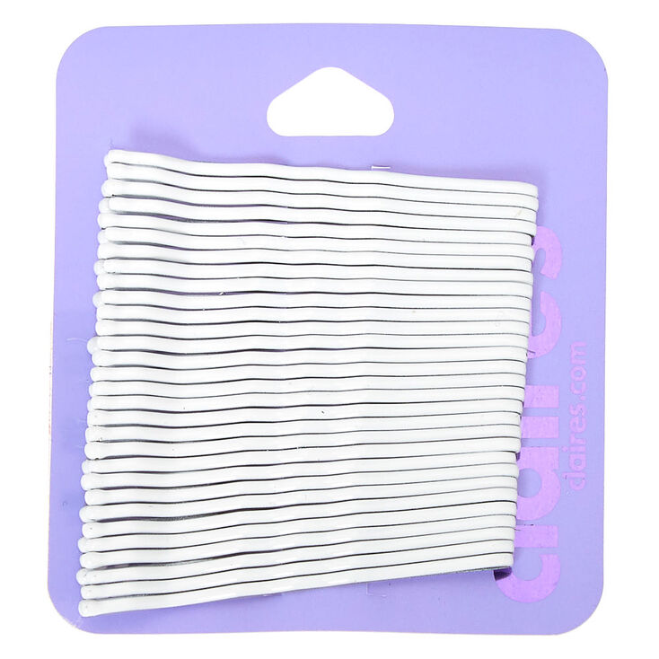 Bobby Pins - White, 30 Pack,