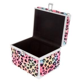 cca1c82f0 Faux Fur Rainbow Leopard Lock Box