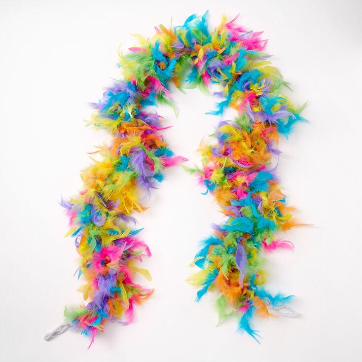 Rainbow Feather Boa,