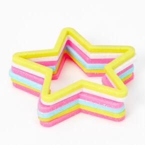 Claire's Club Rainbow Star Stretch Bracelet - 6 Pack,