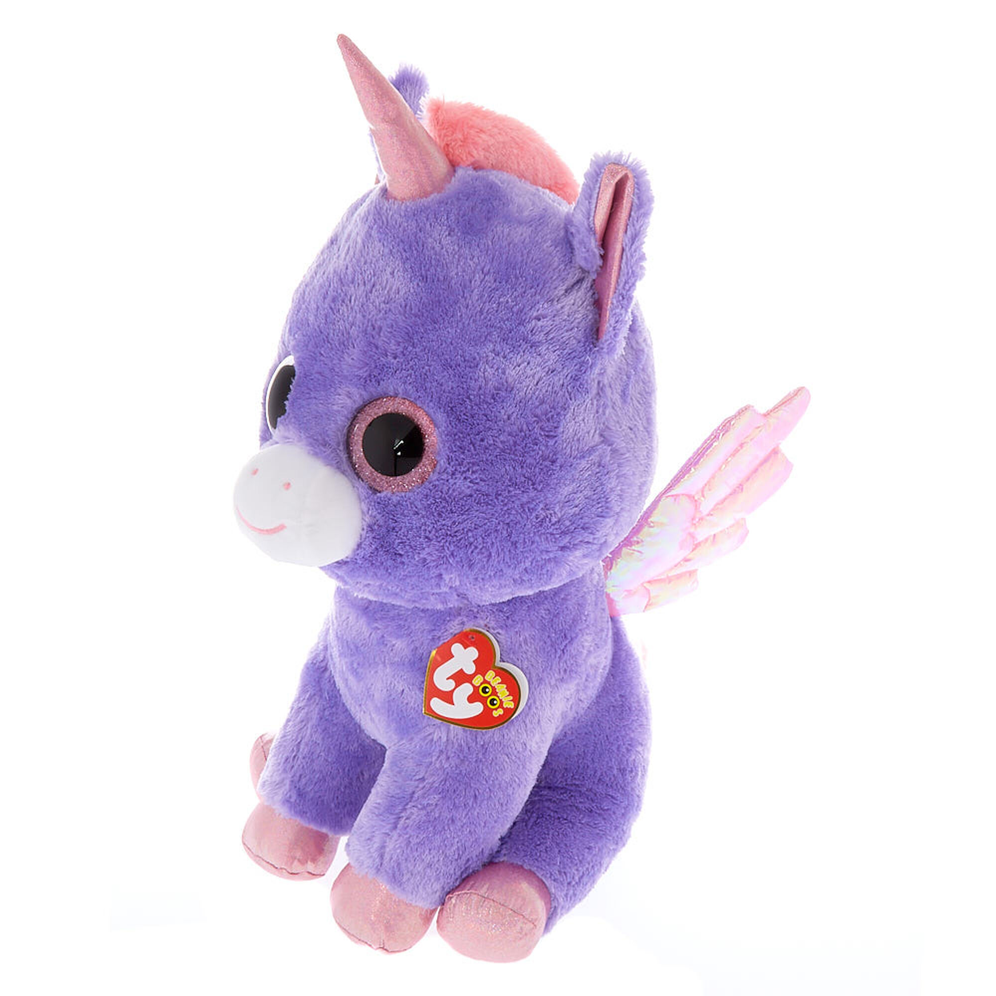 ... Ty Beanie Boo Large Athena the Pegasus Soft Toy 5ca397f5278