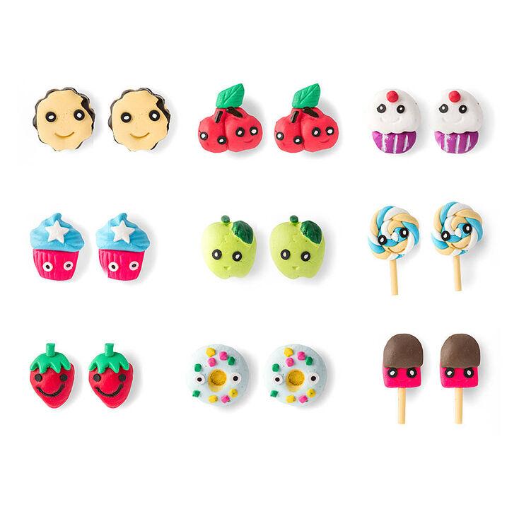 Fruit & Sweets Stud Earrings,