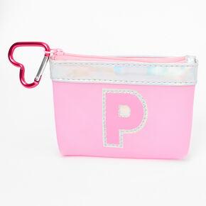 Porte-monnaie à initiale rose - P,