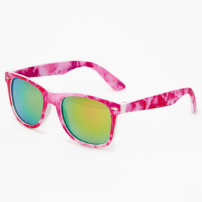 Tie Dye Retro Sunglasses - Pink,