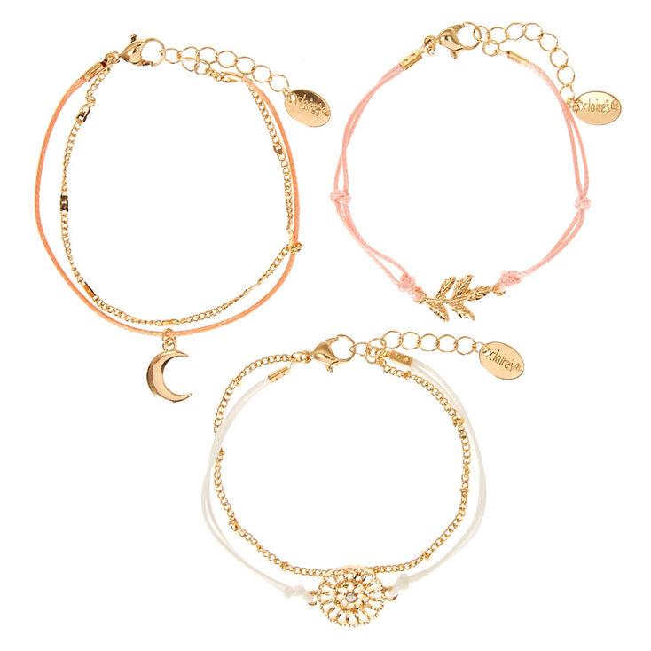 Gold Boho Flair Statement Bracelets - 5 Pack,
