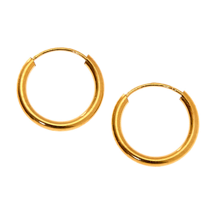18kt Gold Plated Cubic Zirconia Mixed Crystal Stud & Hoop Earrings - 3 Pack,
