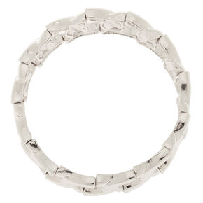 Bracelet élastique maillons de chaîne couleur argentée,