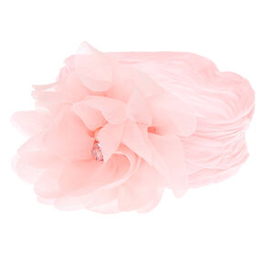 Claire's Club Embellished Floral Headwrap - Pink,