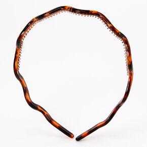Wavy Tortoise Shell Thin Headband,