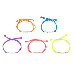 Pastel Plate Stretch Friendship Bracelets - 5 Pack,