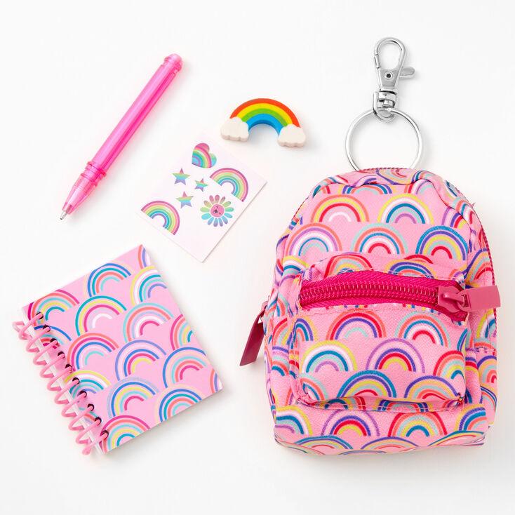 Rainbow 4'' Backpack Stationery Set - Pink,