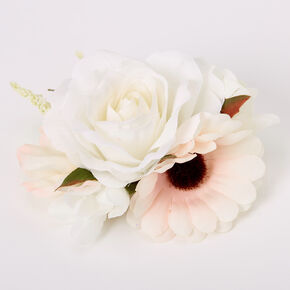 Bouquet Of Roses Hair Clip - Ivory,