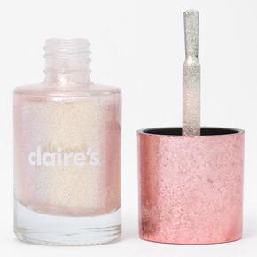 Shimmer Nail Polish - Peach Holo Glitz,