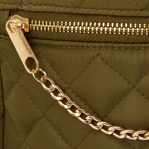 Quilted Crossbody Messenger Bag - Olive,