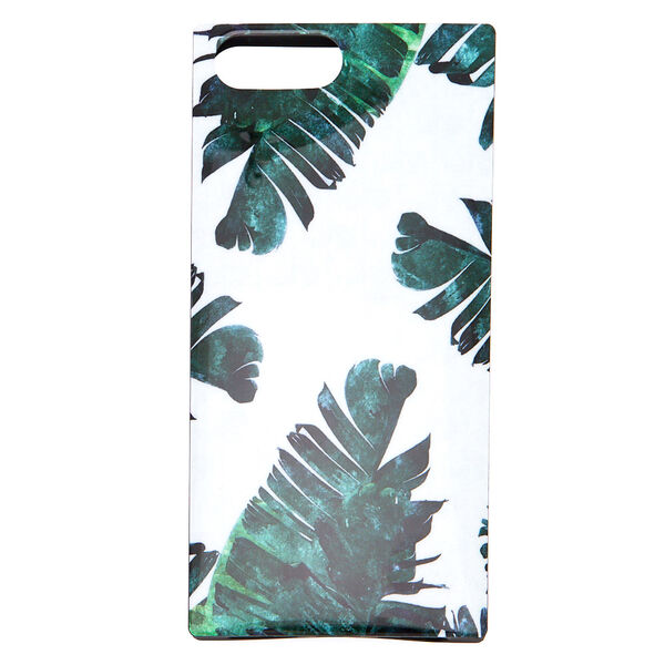 Claire's - tropical leaves square phone case - 1