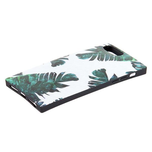 Claire's - tropical leaves square phone case - 2