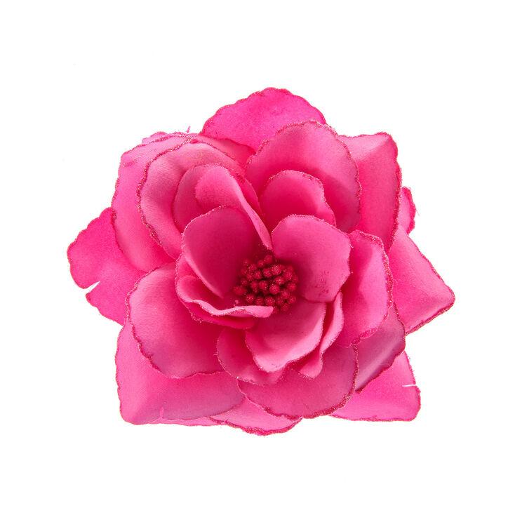 Grosse Barrette Fleur Rose Claire S Fr