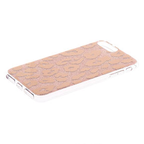 Rose Gold Glitter Leopard Ring Holder Phone Case - Fits iPhone 6/7/8/SE,
