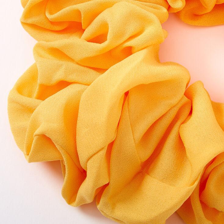 Giant Hair Scrunchie - Yellow,