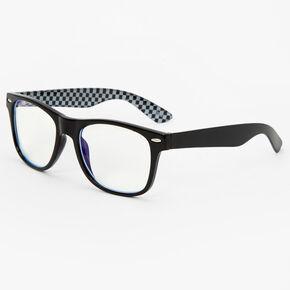 Sky Brown™ Checkered Blue Light Reducing Glasses - Black,
