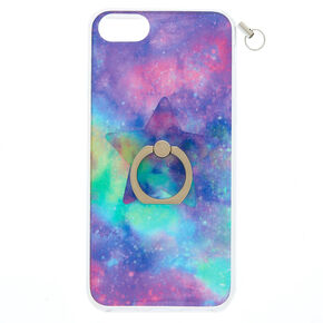 Galaxy Ring Stand Phone Case with Lanyard - Fits iPhone 6/7/8/SE,