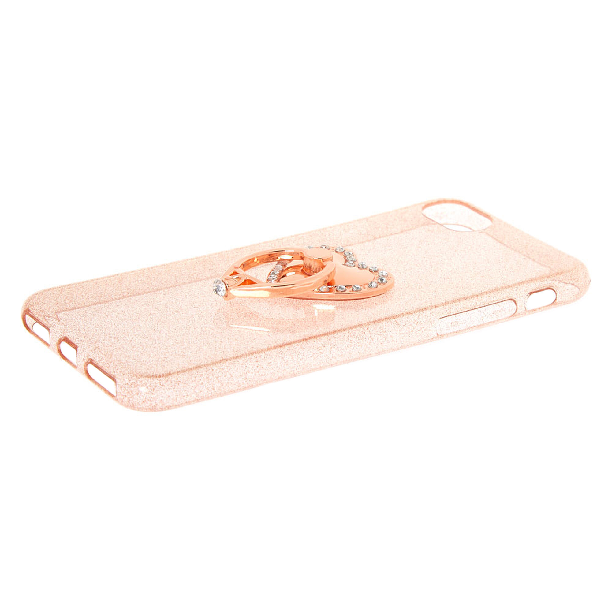 Rose Gold Heart Ring Stand Phone Case Fits Iphone 6 7 8 Se