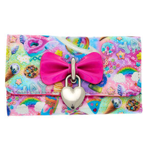 Cosmic Sweets Heart Charm Wallet - Pink,
