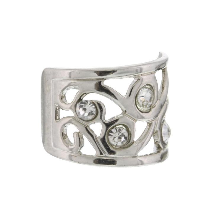 Silver Filigree Ear Cuff,