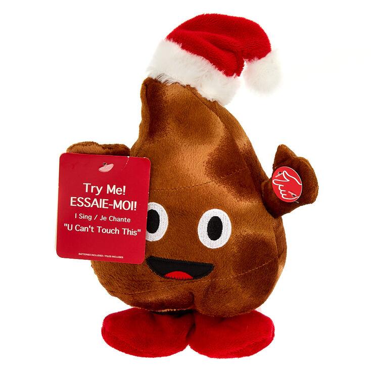 Christmas Emojis.Christmas Poo Emoji Dancing Singing Soft Toy