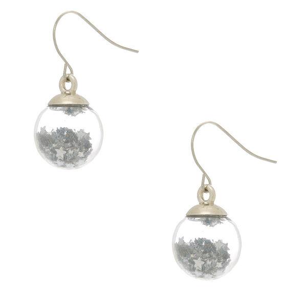 Claire's - disco star shaker drop earrings - 1