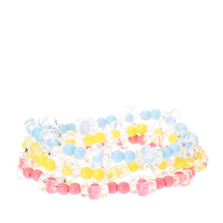Kids 3 Pack Daisy Stretch Bracelets,