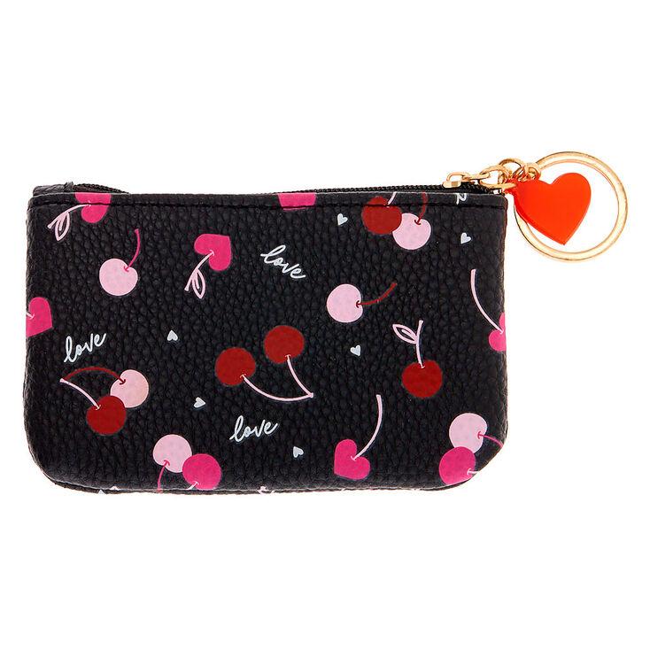 Love Cherries Coin Purse - Black,
