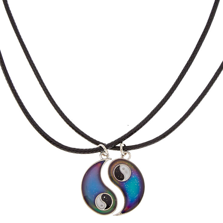 Best Friends Mood Yin Yang Pendant Cord Necklaces - 2 Pack,