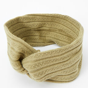Sweater Twisted Headwrap - Sage,