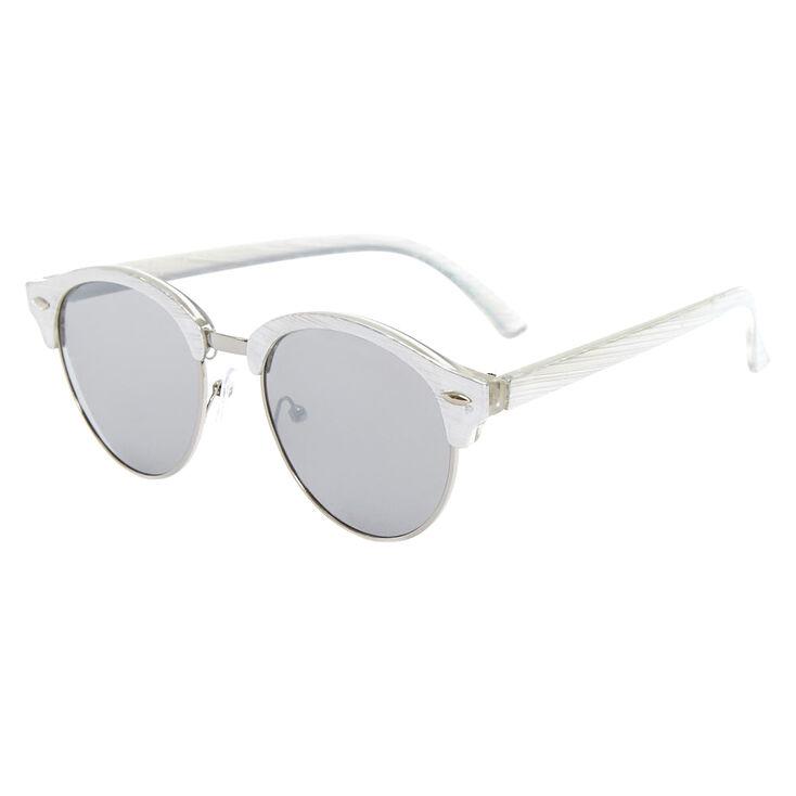 4aa327100e Silver-Tone Metallic Mod Sunglasses