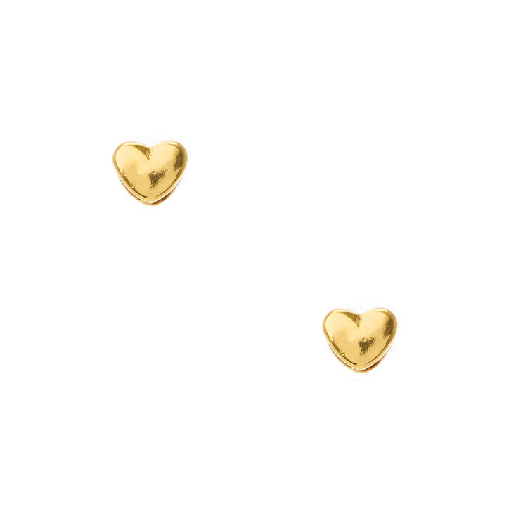 18kt Gold Plated Heart Stud Earrings,