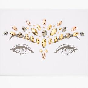 Bijoux de peau pour le front irisés - Couleur dorée,