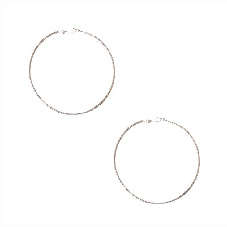 976861506b1df Silver 70MM Hoop Earrings