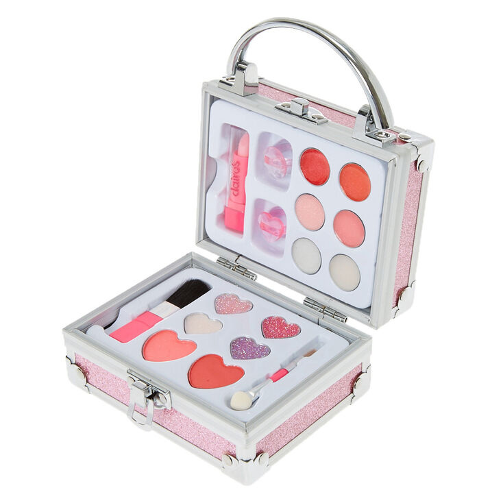 Claire's Club Glitter Lock Box Makeup Set - Pink,