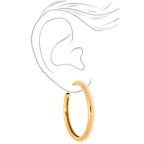 Gold 80MM Tube Hoop Earrings,