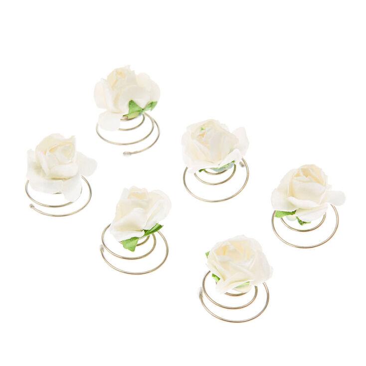 Spirales à cheveux roses en papier blanc,