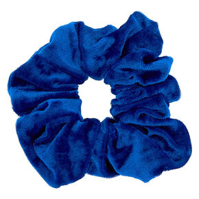 Medium Velvet Hair Scrunchie - Royal Blue,