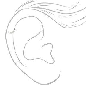 Boucle d'oreille pour piercing de cartilage en spirale 0,6mm couleur argentée,