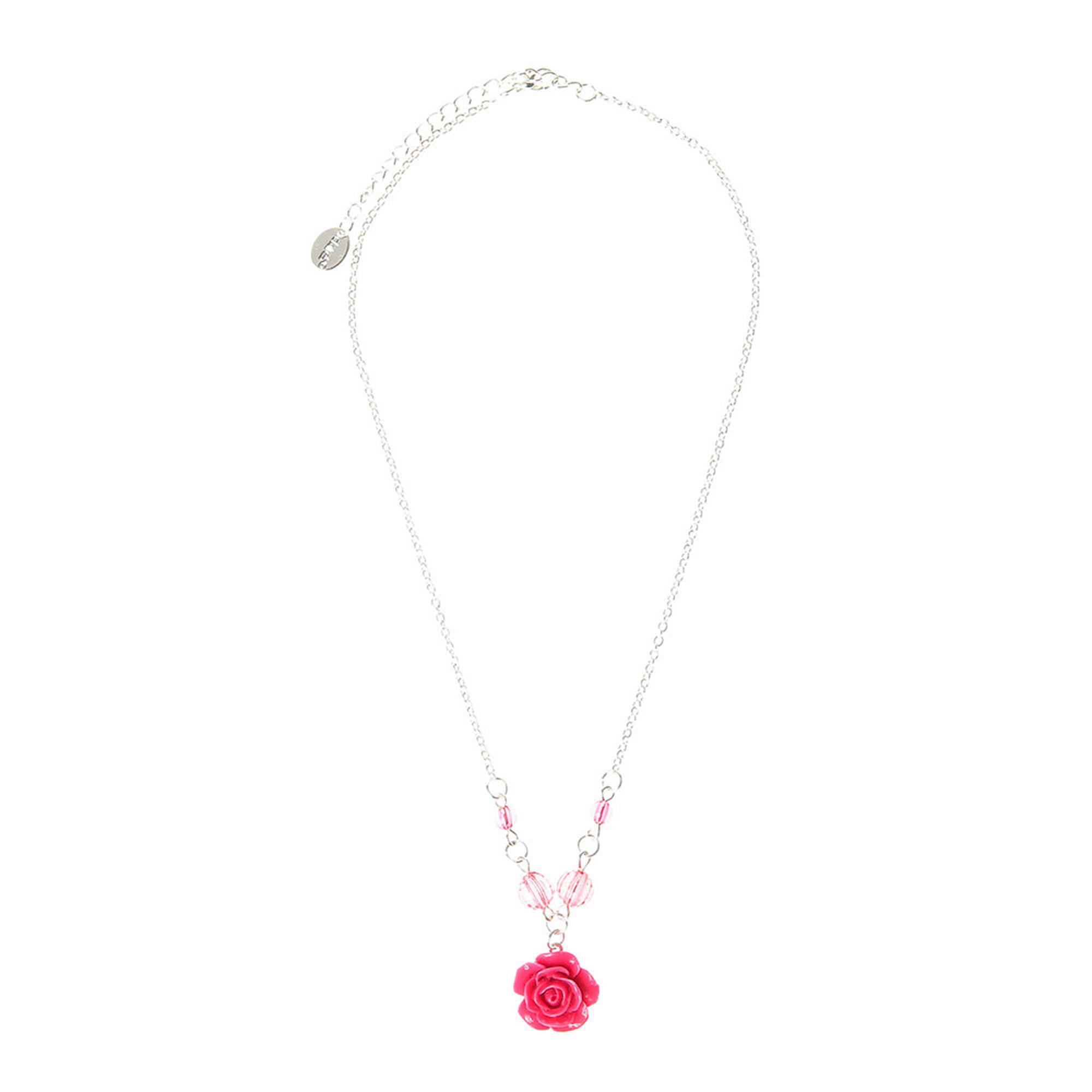 parure de bijoux rose motif rose pour enfants claire 39 s fr. Black Bedroom Furniture Sets. Home Design Ideas