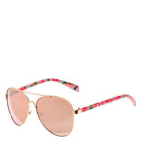 Wild Rose Aviator Sunglasses - Pink,
