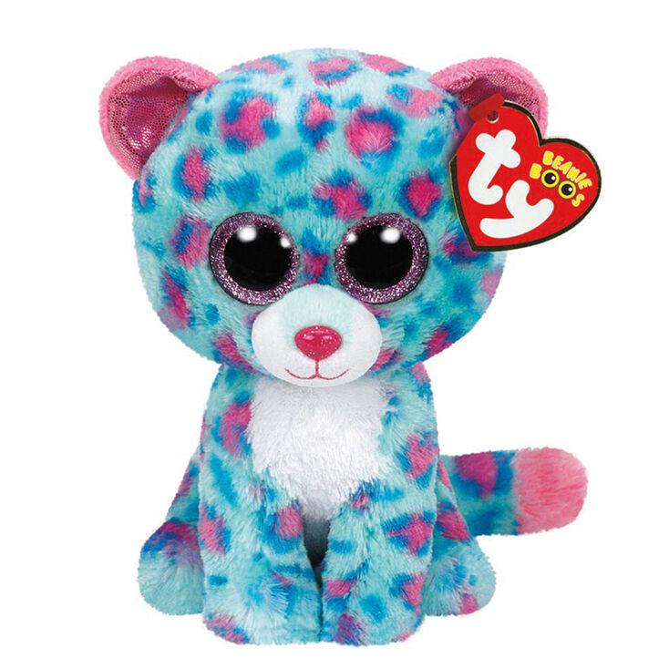Peluche de taille moyenne Beanie Boo Sydney le léopard de TY,