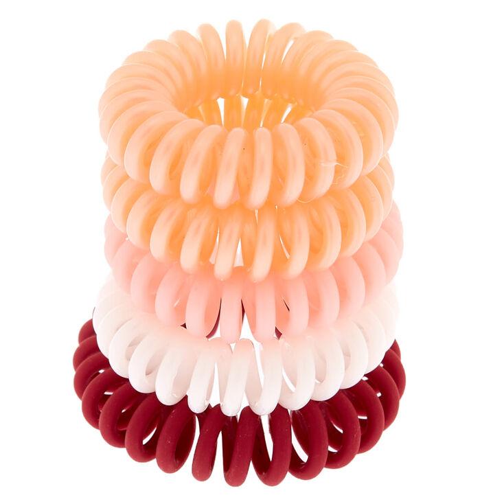 Lot de 5 miniélastiques à cheveux en spirale tons fruits rouges,