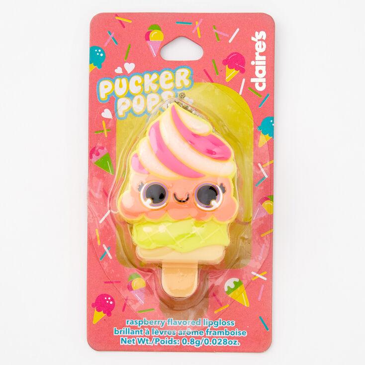 Pucker Pops Ice Cream Lip Gloss - Raspberry,